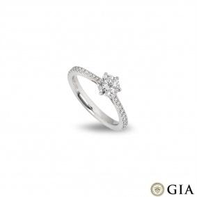 Platinum Round Brilliant Cut Diamond Ring 0.64ct F/VS1 XXX